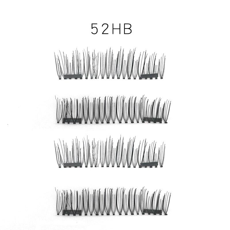 HUAPAN 4Pcs / 3D Магнитті жалған кірпіктерді - Макияж - фото 3