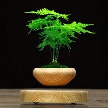 Forró értékesítés ABS Mágneses felfüggesztett növény Pot Grain Round LED Levitating Beltéri levegő Floating Pot otthoni irodai dekoráció No Plant
