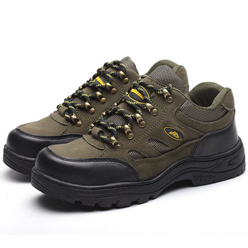 CHAISHOU men woman shoes Work shoes Steel Toe Suede leather Breathable lace-up Anti-smashing anti-piercing lsafety Boots CS-153