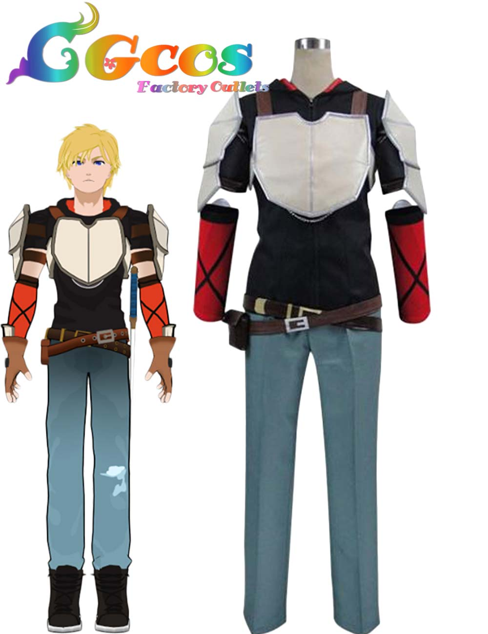 cgcos free shipping cosplay costume rwby jaune arc new in stock retail wholesale halloween christmas uniform - Christmas Wholesale