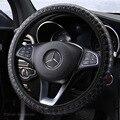 Тканый кожаный эластичный чехол рулевого колеса автомобиля без внутреннего кольца, удобный, амортизирующий, легко устанавливается, Стайли...