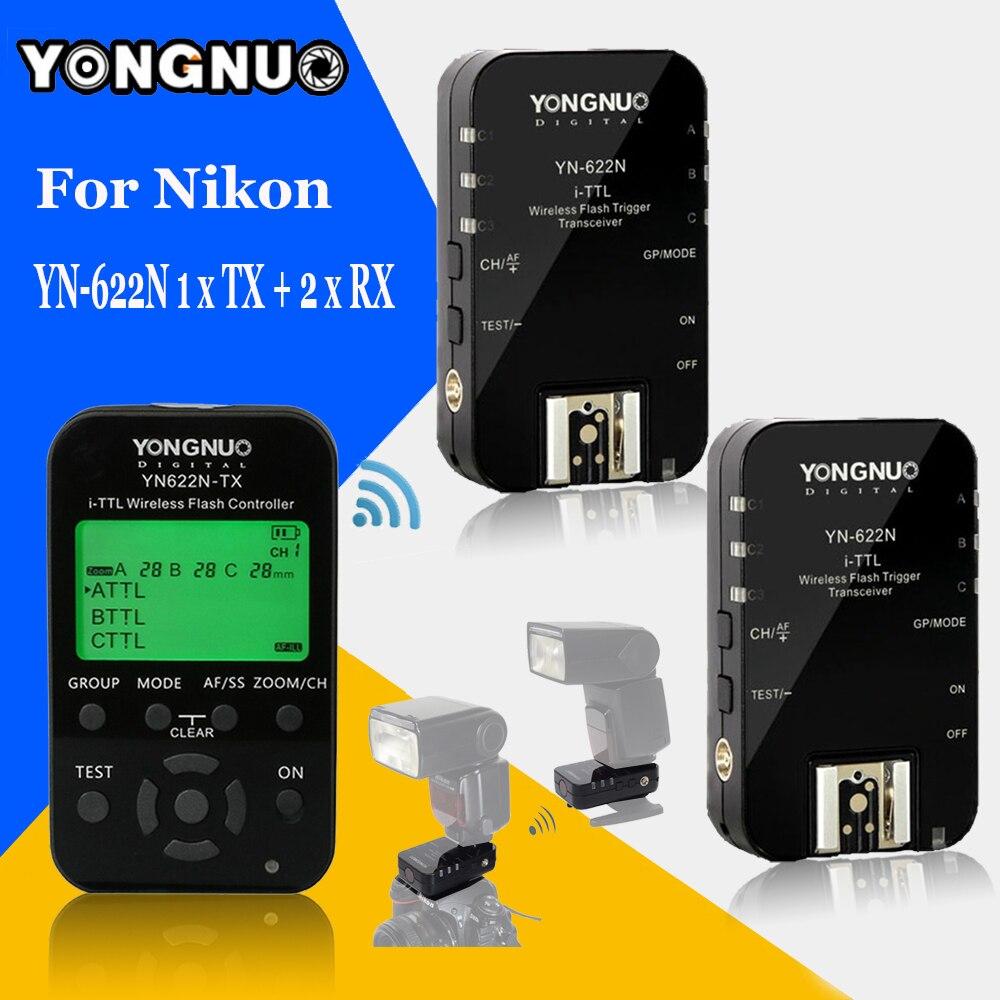 Фото YONGNUO YN622N YN-622N YN622N-KIT 622N-TX Wireless TTL HSS Flash Trigger Set Transmitter x1+2x Transceiver Receiver For Nikon