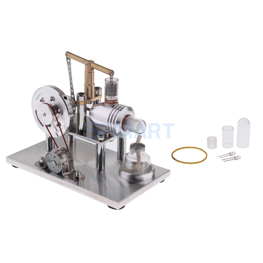 Mini Hot Air Balance Stirling Engine Generator Motor Model Science & Discovery Toys Educational Toy Kits Physics Experiment цены