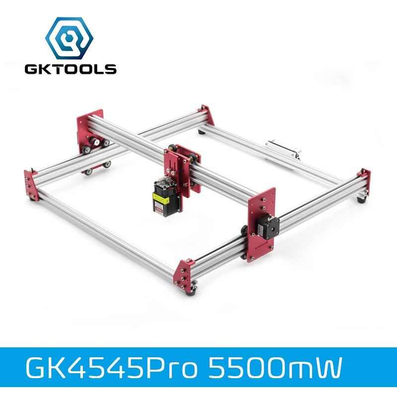 GKTOOLS Tout En Métal 45*45 cm 5500 mw Bois Graveur Laser Gravure BRICOLAGE Machine Mini CNC Imprimante PWM, benbox GRBL EleksMaker