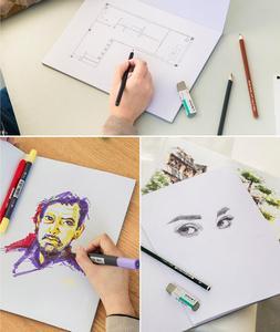 Image 2 - A3/A4 マーカーペンノートブックファッションマーカーパッド 32 枚厚紙 (160 グラム) 色鉛筆ノートブック