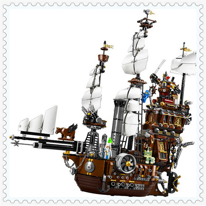 LEPIN 16002 Pirate Ship Metal Beard's Sea Cow Building Block Compatible Legoe 2791Pcs   Toys For Children free shipping lepin 2791pcs 16002 pirate ship metal beard s sea cow model building kits blocks bricks toys compatible with 70810