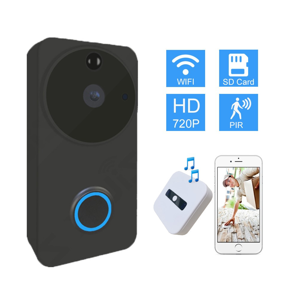 Cobell Wifi Doorbell Camera 720P Video Intercom Wireless Door Bell Security HD Door Phone IP Motion Detection Alarm APP ControlCobell Wifi Doorbell Camera 720P Video Intercom Wireless Door Bell Security HD Door Phone IP Motion Detection Alarm APP Control