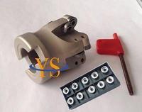 새로운 50mm EMR5R 50-22-4T 페이스 엔드 밀 커터 및 10pcs RPKT1003 알루미늄 카바이드 인서트 CNC 밀