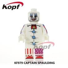 Single Sale Super Heroes Captain Spaulding Hulk Hogan Rocky Balboa Venom Building Blocks Christmas Gift Toys