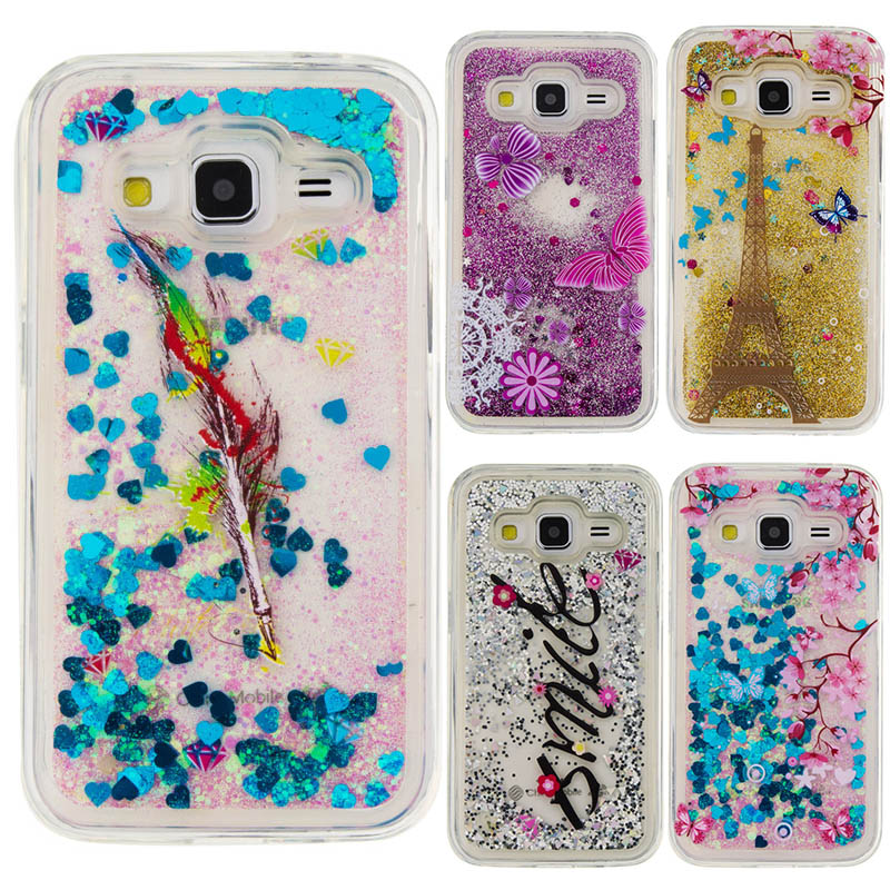 For Samsung Galaxy Core Prime Case Glitter Dynamic Liquid Star Soft TPU Cover Cases For Samsung Galaxy Core Prime G360 G3608
