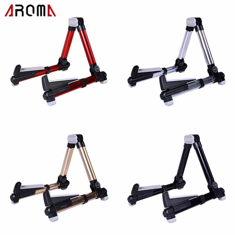 AROMA 153*99*31mm Guitar Stand Universal Folding A-Frame Use for Acoustic Electric Guitars Bass Floor Stand Holder Drop Shipping цены онлайн