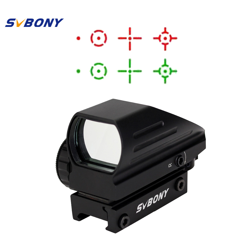 SVBONY 20mm Ratil Red Dot Scope Riflescope Optics Tactical Red Green 4 Reticle Dot Reflex Optics Sight Scope for Hunting F9129A aim o red dot tactical hunting sight scope srs reflex 1x38 iron optics riflescope for airgun ao3040