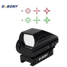 SVBONY 20mm Ratil Red Dot Zielfernrohr Optik Taktischer Roter grün 4 Absehen Dot Reflex Optics Anblick für Die Jagd F9129A