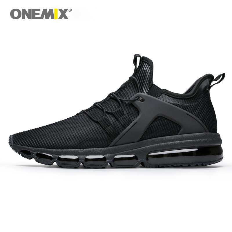 Onemix 2018 Summer New Air Running Shoes Men Outdoor Sports Shoes Breathable Jogging Sneakers Shoes Black Training Sports Shoes