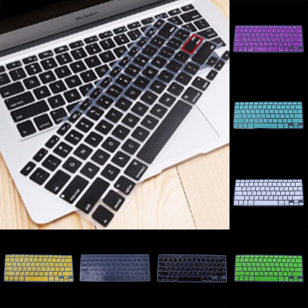 US Version Russian Keyboard Silicone Skin Cover For Apple Macbook Air Pro 13 15 ...