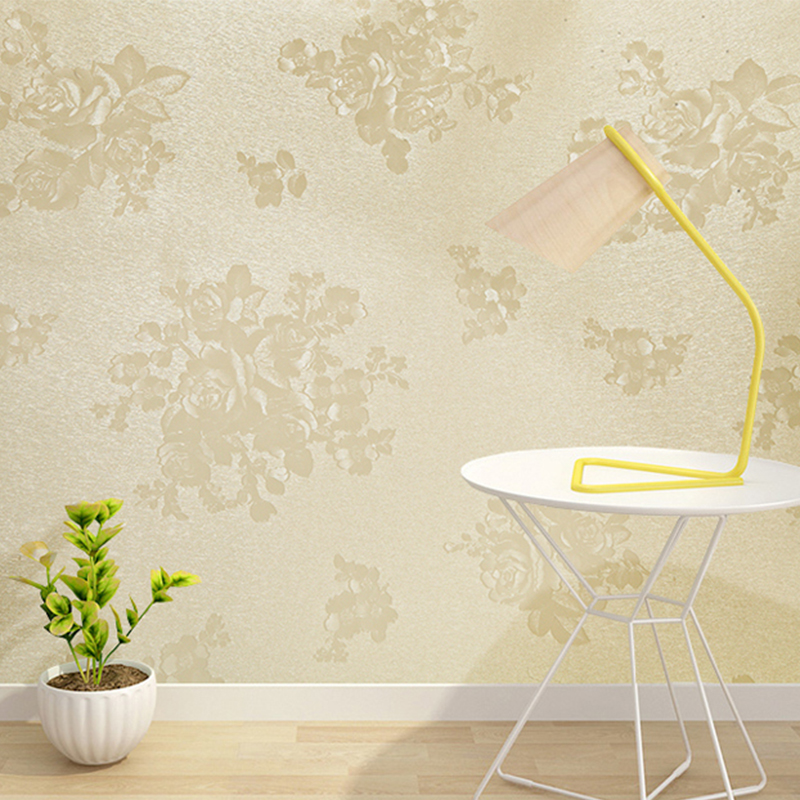 Modern Simple Floral Wallpaper 3D Solid Color PVC Self-Adhesive Waterproof Wall Sticker Living Room Bedroom Home Decor Wallpaper creative letters reading conner diy pvc sticker adhesive wallpaper