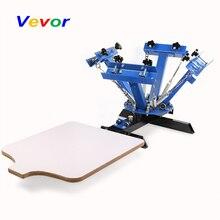 VEVOR трафаретная печатная машина пресс 4 цвета 1 станция шелкография машина регулируемая двойная пружиной устройства
