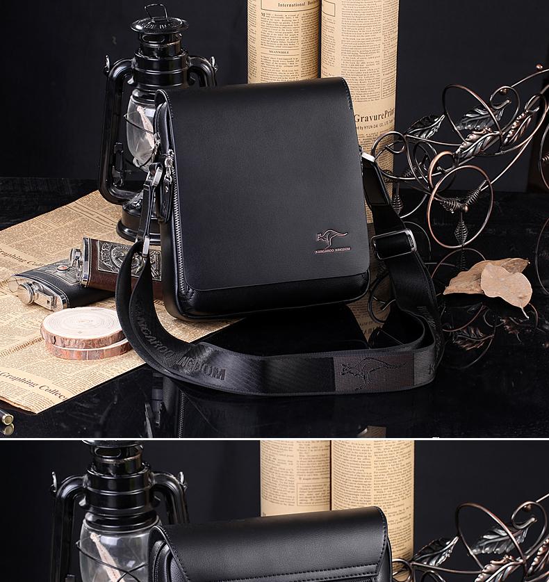 New Arrived luxury Brand men's messenger bag Vintage leather shoulder bag Handsome crossbody bag handbags Free Shipping 8