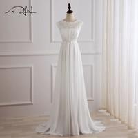 ADLN New Arrival Chiffon Wedding Dress Cap Sleeve Scoop Neck Lace A Line Wedding Dress Bridal