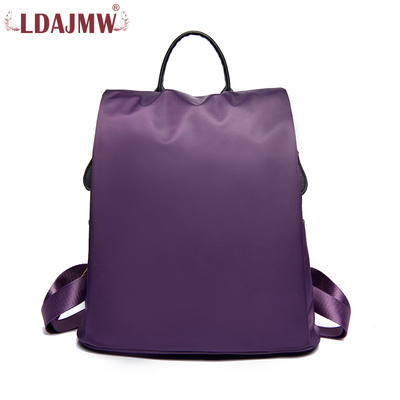 LDAJMW Fashion Nylon Cloth Ma'am Both Shoulders Package Concise Woman Bag for Teenage Girls Female School Shoulder Bag Bagpack europe station genuine leather joint capacity mommy fashion trend both shoulders foreign trade woman package generation hair