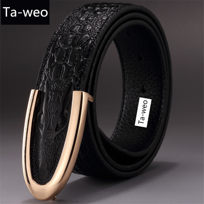 Gents\Mens 1,25 pouce réel complet 100 /% Grain cuir ceintures Silver Buckle