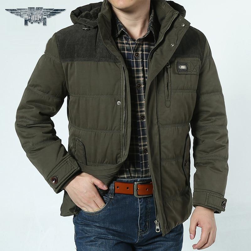 2016 High Quality Thickening Winter Coat Cotton-Padded Jacket Men Warm  Parkas Plus Size 3XL #jpzc8537