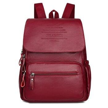 55696cd63c1b Модный женский рюкзак для отдыха, однотонный кожаный рюкзак высокого  качества, женская дизайнерская школьная сумка для девочек-подростков,.