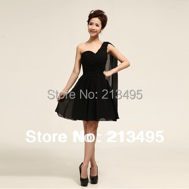a2460e67a572 summer fashion ladies woman grecian cocktail chiffon party style black dress  sexy women ladies semi formal dresses casual W058-in Cocktail Dresses from  ...