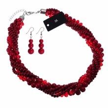 цена на BK Fashion Jewelry Chain Resin Crystal Choker Chunky Statement Pendant Bib Necklace
