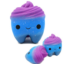 Stress Relief Squeeze Toys Squishy Slow Rebound Teeth Simulation PU Foam Novelty Starry Crafts