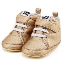 Newborn Shoes First Walker Pu Leather Autumn Winter Baby Kids Boy Girl Soft Sole Canvas Sneaker