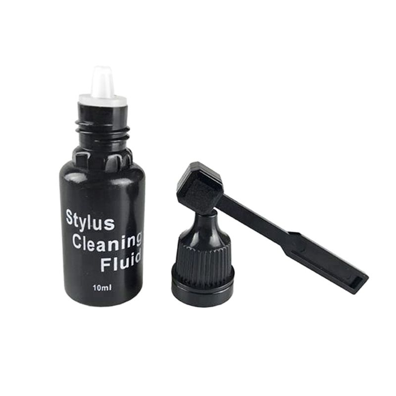 10ml Vinyl Records Cleaning Fluid with Needle Cleaner Brush LP Phonograph Record Turntables Cleaning