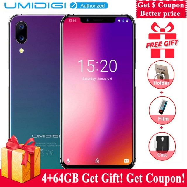 "UMIDIGI ONE 4GB 32GB Global Version 5.9""full surface Screen Cell Phone Android 8.1 P23 Octa Core 12MP+5MP Dual 4G Smartphone"
