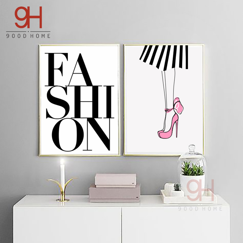 900d Posters And Prints Wall Art Canvas Painting Wall Pictures Nordic Fashion Lip Picture