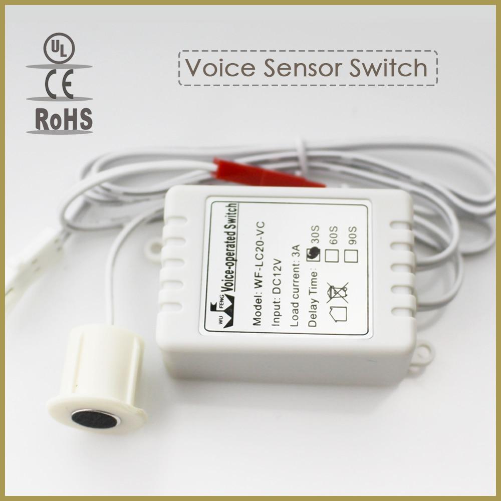 6pcs/lot Intelligent Automatic On Off Light Sound Voice Sensor Switch Time Delay DC 12V 3A 6pcs lot intelligent automatic on off light sound voice sensor switch time delay dc 12v 3a
