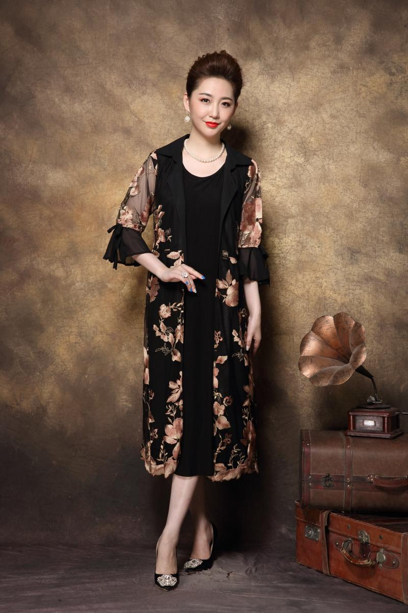 d93f25dd0c626 BIG SALE] Chinese style Elegant Mother long dress retro Embroidery ...