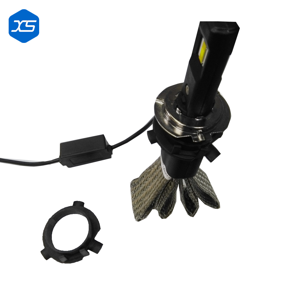 ФОТО 2017 9005 H4 9004  LED Headlight 36W 3200LM Car head light conversion kit 8-32V No fan copper cooling belt IP65 BULB Automobiles