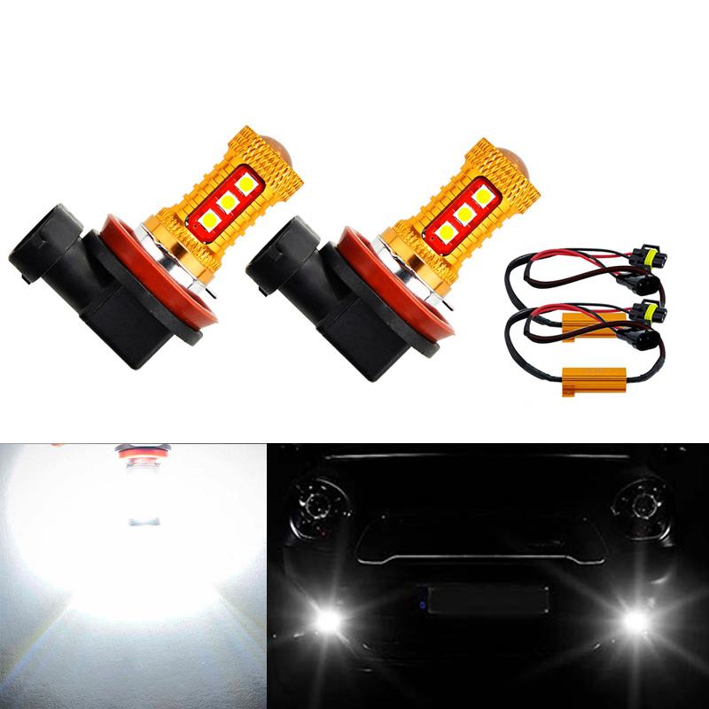 2x Super White <font><b>H8</b></font> H11 <font><b>CREE</b></font> Chip 3030 <font><b>LED</b></font> Fog Light Driving Bulbs No Error For Mercedes Benz W211 W212 W164 W221 image