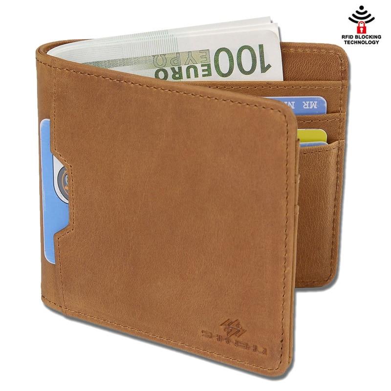 SHANSHUI Slim Wallet Men High Quality Genuine Leather EURO Money Purse RFID Blocking Credit Card Hold Male Small Purse Wallets tatonka euro wallet rfid black 2955 040