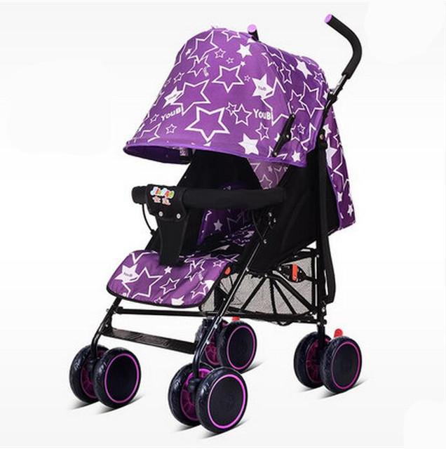 2016 Moda Super Leve Carrinho de Bebê Dobrável Colorido Fácil À Prova de Choque de Carro Do Bebê Portátil Carrinho de Carrinhos para Recém-nascidos C01