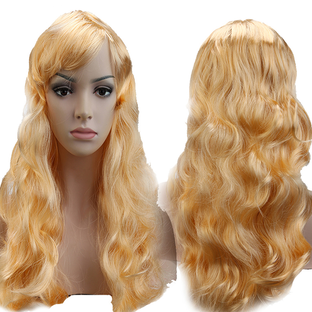 Blonde Curly Halloween Wigs 58