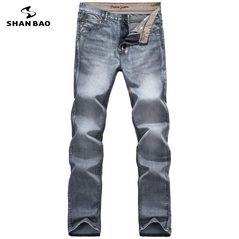 Men s casual jeans fashion letter embroidery 2017 autumn and winter brand clothing high quality new