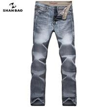 Männer casual jeans mode brief stickerei 2017 herbst und winter bekleidung marke hochwertigen neue baumwolle grau denim-hosen