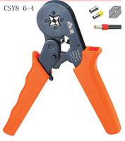 HSC8 6 4 0.25 6mm 23 10AWG 10S 0.25 10mm 23 7AWG crimp Plier tube terminals hand tools Crimping pliers