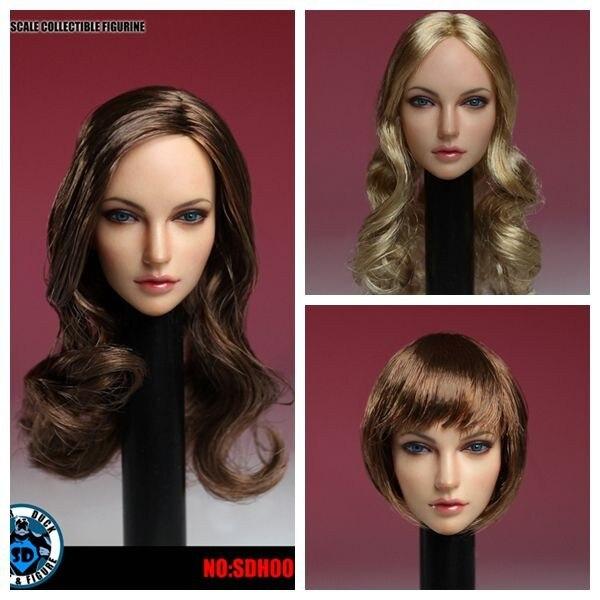 SUPER canard SDH005 1/6th modèle de tête européenne américaine pour jouet de Figure d'action de corps de couleur pâle PH