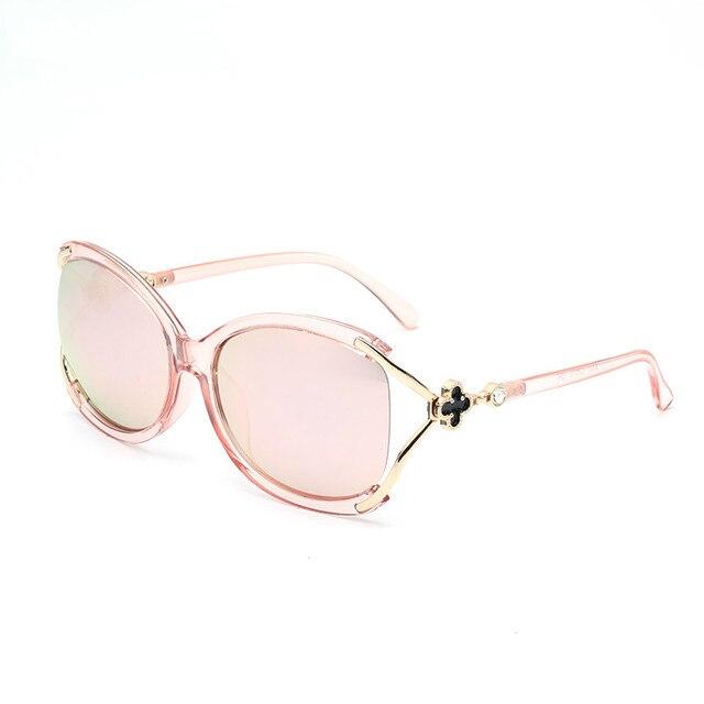 ladies Fashion Polarized Sunglasses Women Luxury Brand Designer Vintage Sun glasses Female Flower Oversized Shades Eyewear UV400 4