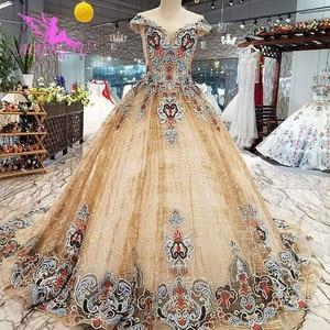 Image 2 - AIJINGYU Abiti Da Sposa Arabia Saudita Abiti In Raso Brillante A Buon Mercato Nei Pressi di Me Dellabito di Sfera Del Merletto Dubai Abito Da Sposa Nuovo 2021 2020