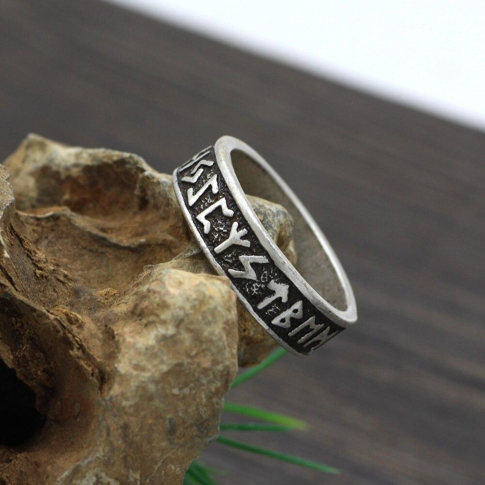 Elder Futhark Asatru Nordic Celtic Viking Pagan Norse Rune Ring-in Rings From Jewelry ...