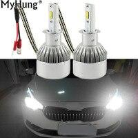 Car LED Đèn Pha LED H7 H1 12 V H11 H8 9005 HB4 9006 6000 K 72 Wát 7600LM H4 Xe Tải Trụ Đèn Thay Thế Kit RDL 1 pair Xe Styling