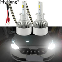 Car LED 1pair 72W 7600LM H4 Headlight H7 H1 12V H11 H8 9005 HB4 9006 6000K